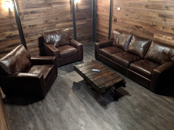 Cigar room with walnut and Danford